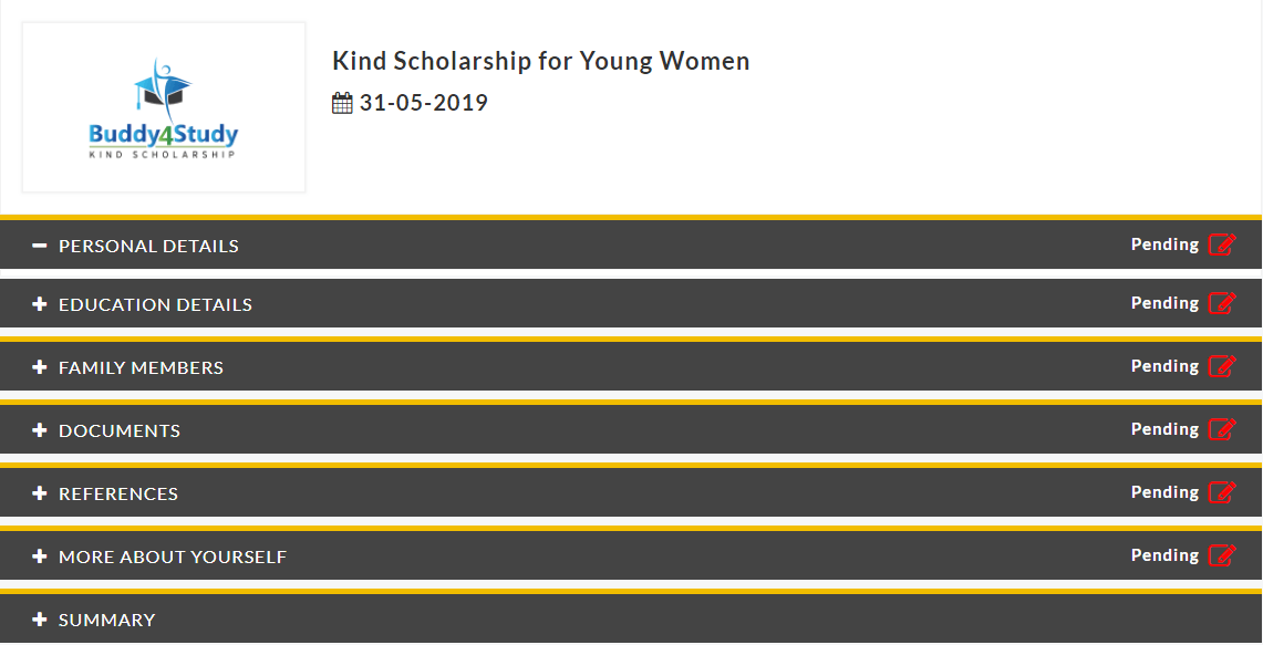KIND-Scholarship-2019-For-Young-Women-Application-Form Online Application Form For Ishan Uday Scholarship on
